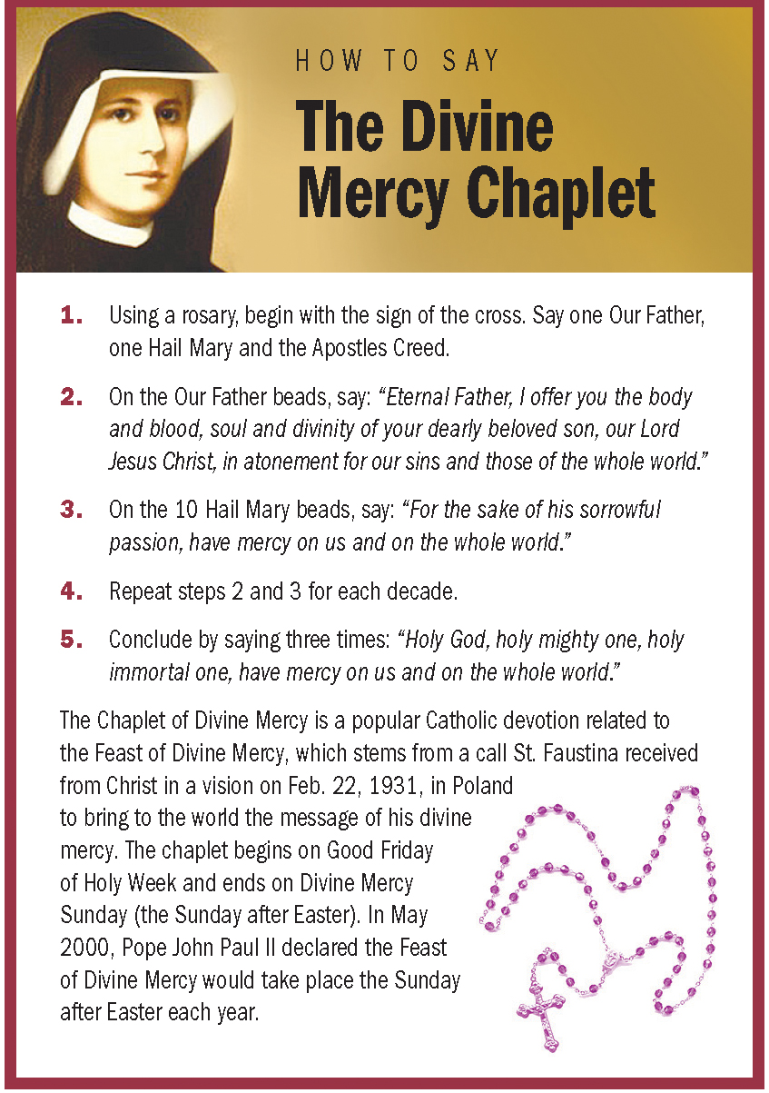 how to say divine mercy chaplet